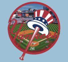 New York Yankees Stadium Logo Kids Tee