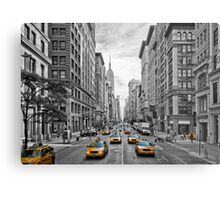 5th Avenue Yellow Cabs - NYC Metal Print