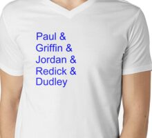 '13-'14 Clippers Lineup Mens V-Neck T-Shirt
