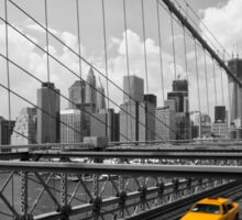 Blick von der Brooklyn Bridge Sticker