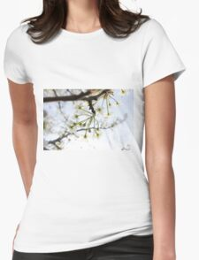 Radiant Blossoms Womens Fitted T-Shirt