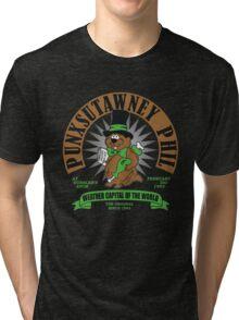 PUNXSUTAWNEY PHIL Groundhog Day Tri-blend T-Shirt