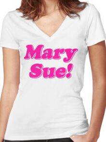 Mary Sue! Women's Fitted V-Neck T-Shirt