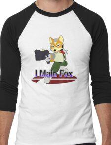 I Main Fox - Super Smash Bros Melee Men's Baseball ¾ T-Shirt