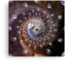 Digitally enhanced image of the Earth. Canvas Print