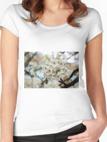 Speckled Blossoms Women's Fitted Scoop T-Shirt
