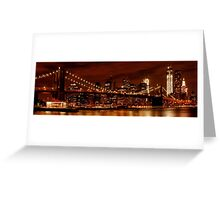 Night-Skyline NEW YORK CITY Greeting Card