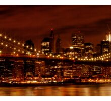 Night-Skyline NEW YORK CITY Sticker
