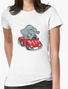 Elephant VW Womens Fitted T-Shirt
