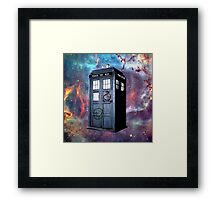 tardis police box galaxy Framed Print