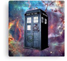 tardis police box galaxy Canvas Print