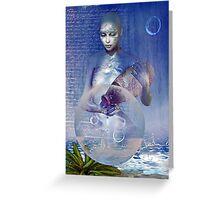 water elemental Greeting Card