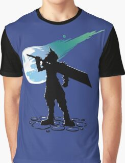 Cloud and the Meteor - Final Fantasy VII Graphic T-Shirt