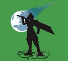 Cloud and the Meteor - Final Fantasy VII One Piece - Short Sleeve