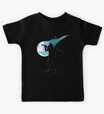 Cloud and the Meteor - Final Fantasy VII Kids Tee