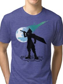 Cloud and the Meteor - Final Fantasy VII Tri-blend T-Shirt