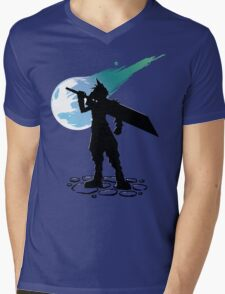 Cloud and the Meteor - Final Fantasy VII Mens V-Neck T-Shirt