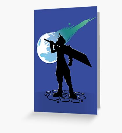 Cloud and the Meteor - Final Fantasy VII Greeting Card