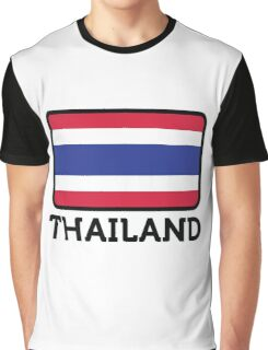 National flag of Thailand Graphic T-Shirt