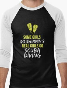 Real Girl Go Scuba Diving Men's Baseball ¾ T-Shirt