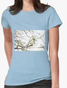 White Blossom II Womens Fitted T-Shirt