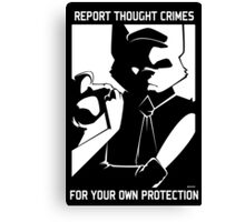 Report Thought Crimes Canvas Print