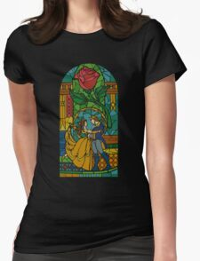 Beauty and The Beast - Stained Glass Womens Fitted T-Shirt
