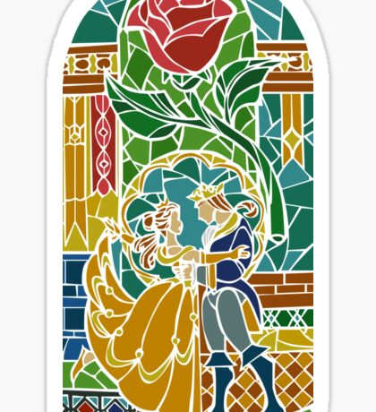 Beauty and The Beast - Stained Glass Sticker