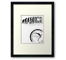 escape the prison of life Framed Print