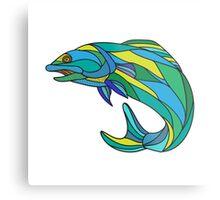 Atlantic Salmon Jumping Drawing Metal Print