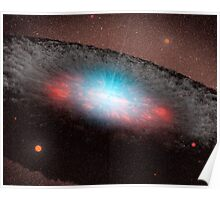 A supermassive black hole at the center of a galaxy. Poster