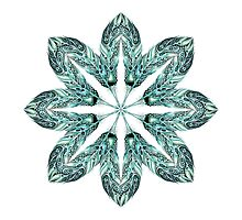 Tribal Feather Star Mandala by Ronelle Cook