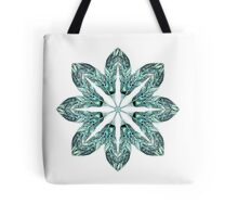 Tribal Feather Star Mandala Tote Bag