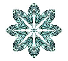 Tribal Feather Star Mandala Photographic Print