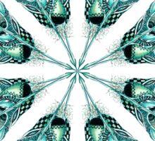 Tribal Feather Star Mandala Sticker