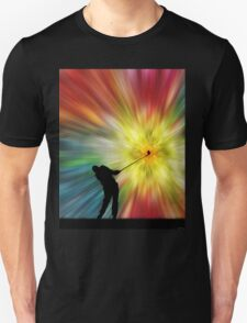 Tie Dye Silhouette Golfer T-Shirt