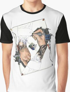 Drawing Hands Graphic T-Shirt