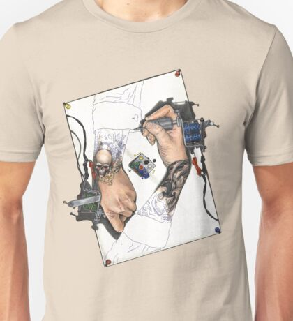 Drawing Hands Unisex T-Shirt