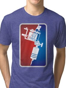 Tattoo Machine Tri-blend T-Shirt