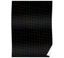 zigzag squares in Neon Poster