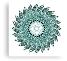 Tribal Feather Mandala Two  Canvas Print