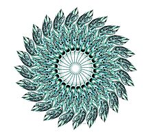 Tribal Feather Mandala Two  Photographic Print