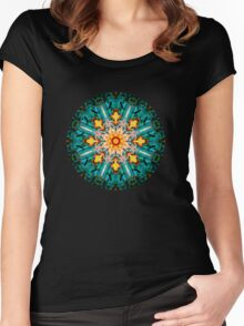 Plasmic Circle 8 Women's Fitted Scoop T-Shirt