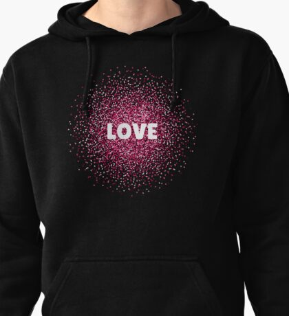 Lovely illustration with hearts Pullover Hoodie