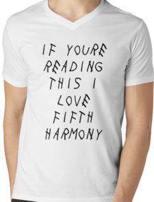 If youre reading this i love 5H (Drake) Mens V-Neck T-Shirt