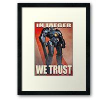 In Jaeger We Trust Poster Alt. ONE:Print Framed Print