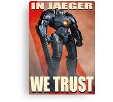 In Jaeger We Trust Poster Alt. ONE:Print Canvas Print