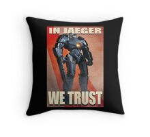 In Jaeger We Trust Poster Alt. ONE:Print Throw Pillow