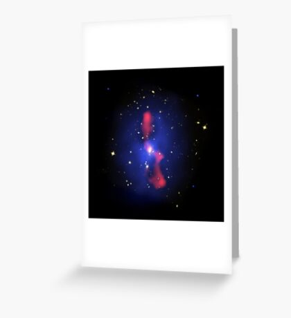 Composite image of a galaxy cluster. Greeting Card