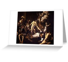 The Martyrdom of Saint Matthew Greeting Card